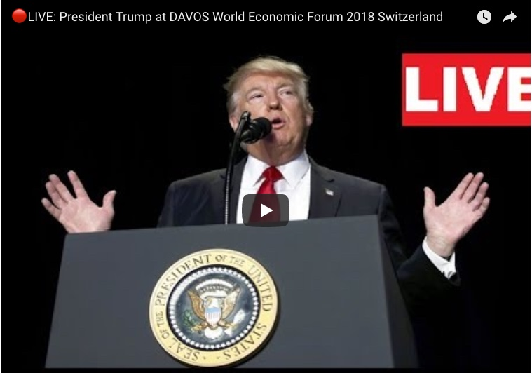WATCH: President Trump at DAVOS World Economic Forum 2018 Switzerland