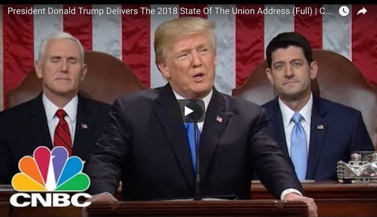 Watch: President Donald Trump's 2018 State of the Union Address (Full Speech)