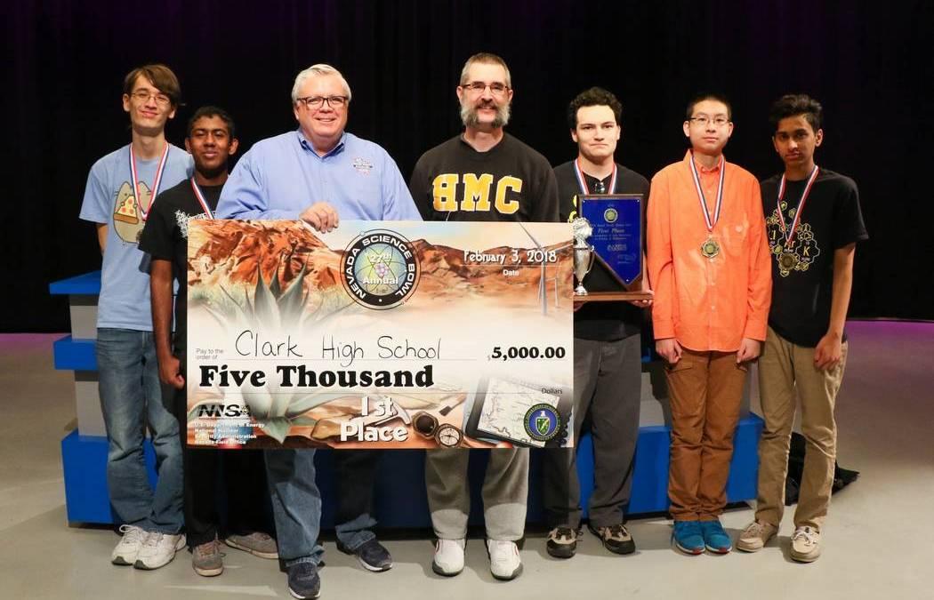 Clark High School Team Wins Nevada Science Bowl