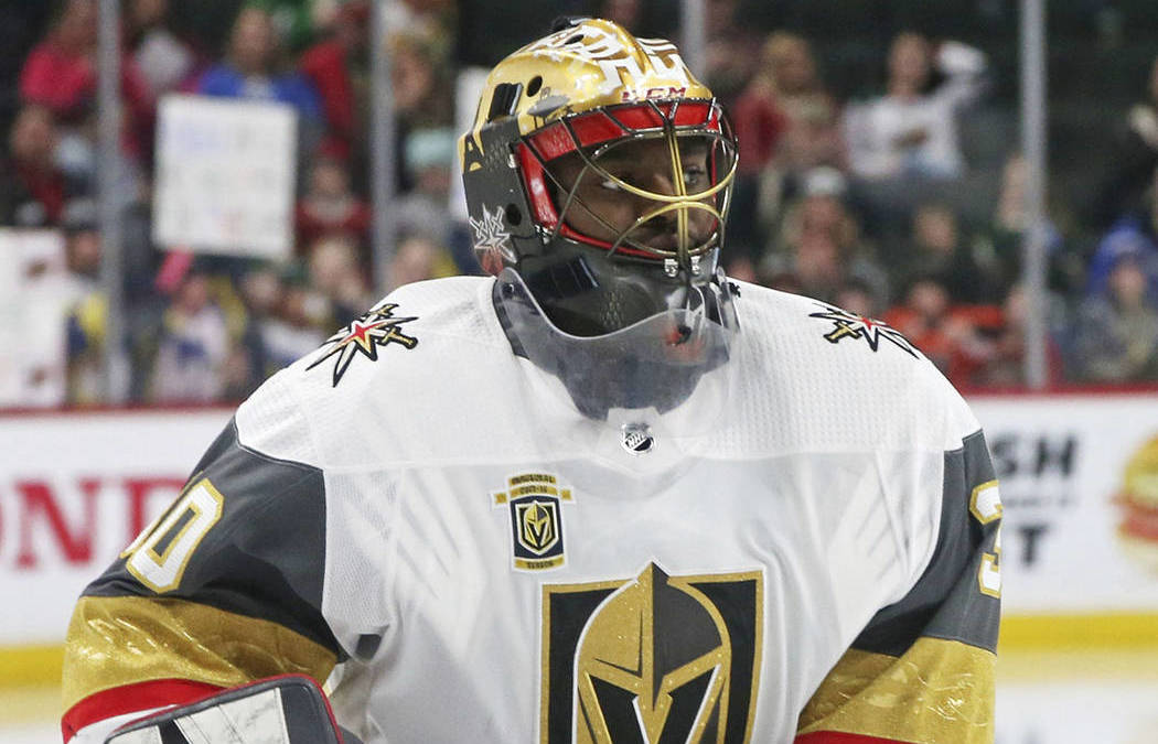 Golden Knights Goaltender Malcolm Subban Listed 'Week to Week'