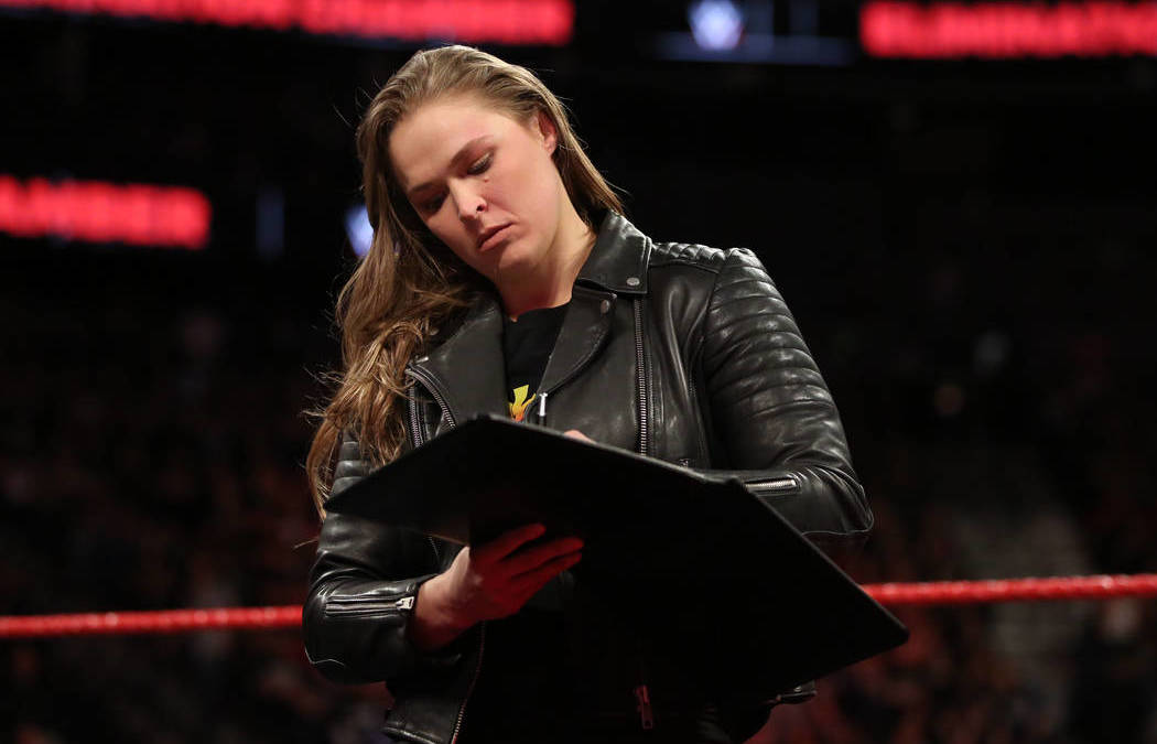 Former UFC champ Ronda Rousey signs WWE contract in Las Vegas