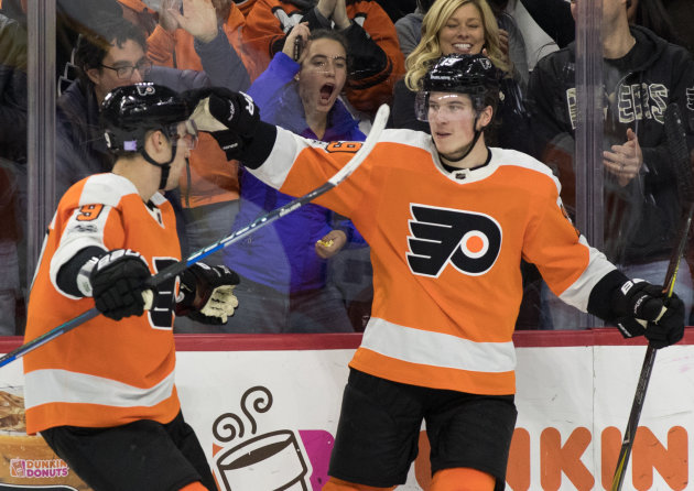 Seven Flyers Score to Beat Rangers 7-4