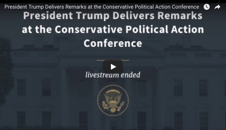 President Trump's Full CPAC Speech