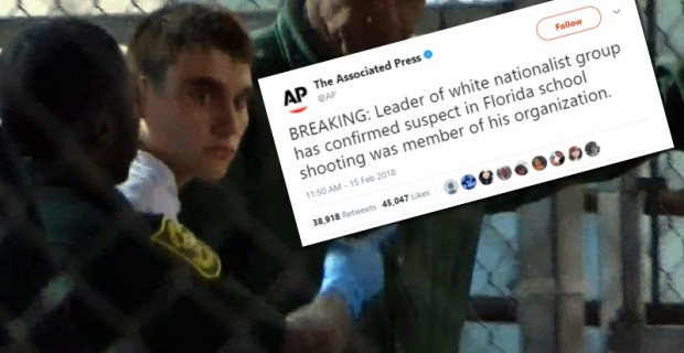 """Fake News: Lie About Florida Shooter Being Member of """"White Supremacist"""" Group Not Retracted"""