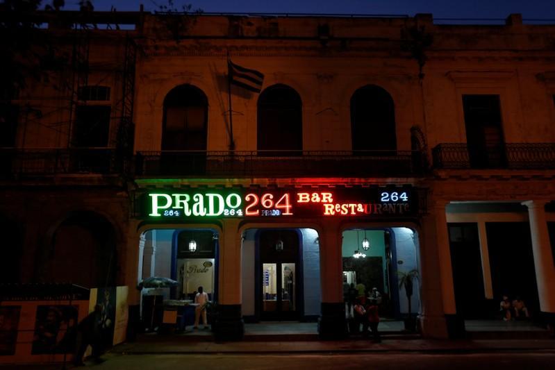 Cuban artist switches Havana's neon lights back on