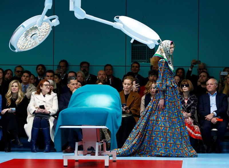 Gucci's Michele explores identities in rich, bold display