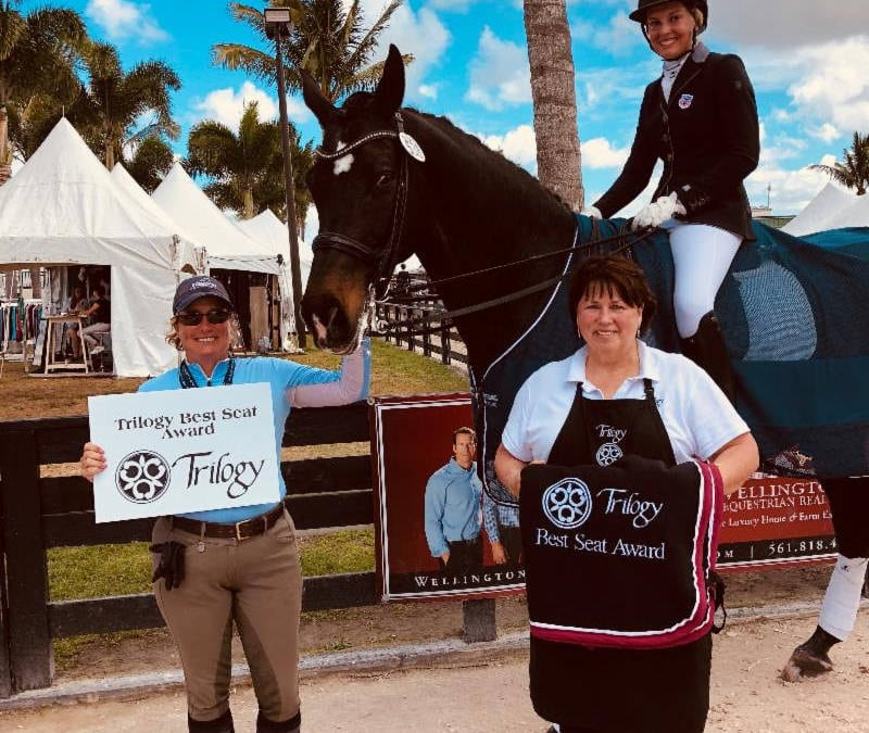 Emma Asher and Juan Matute Guimon Honored with Trilogy Performance Saddlery's Best Seat Awards During Adequan Global Dressage Festival