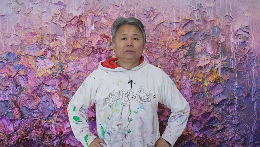 Flower power: Chinese artist hails east-west dialogue with petals