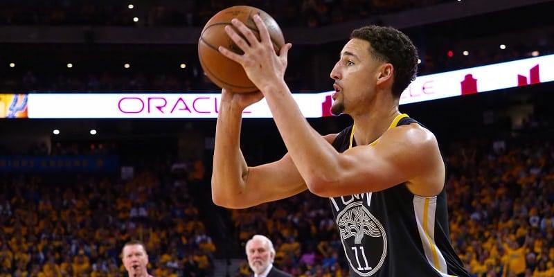 Thompson, Warriors pull away for 2-0 edge on Spurs
