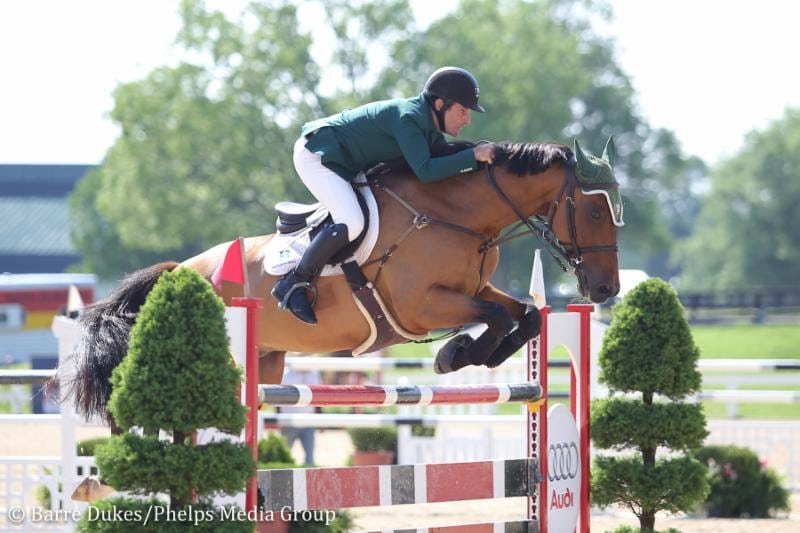 Kevin Babington Claims Second Consecutive National Grand Prix Victory With Mark Q to Close Kentucky Spring Horse Shows