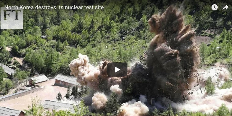 North Korea destroys its nuclear test site