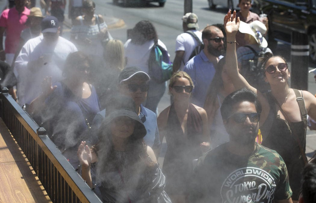 Las Vegas temperatures dropping to 'normal' after hot start to week