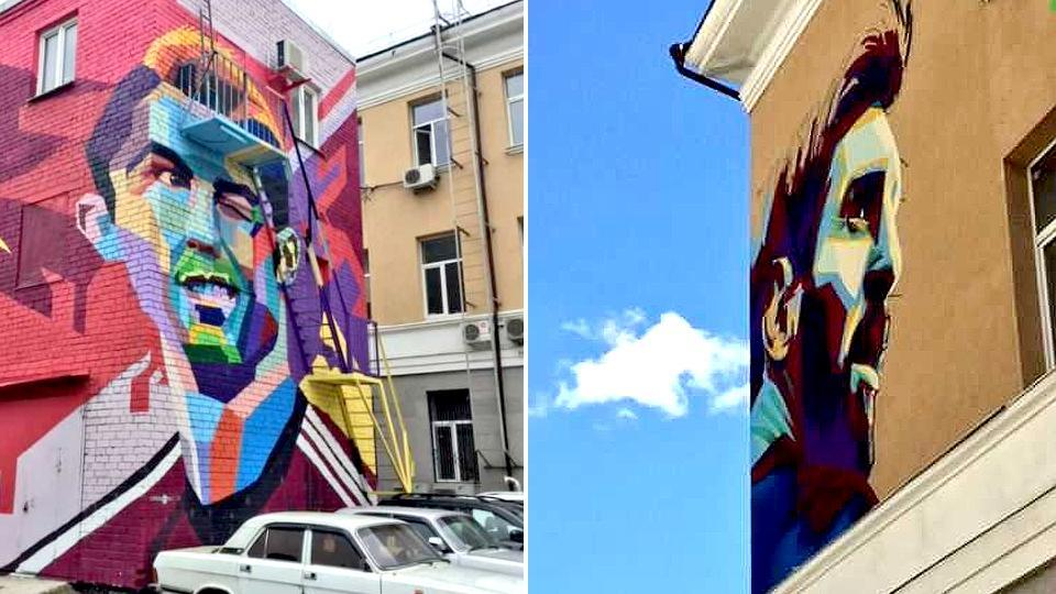 Messi gets face-saving Kazan mural to match Ronaldo's