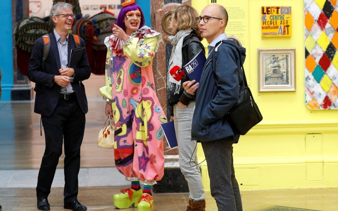 Grayson Perry opens 'rough and tumble' Royal Academy art show