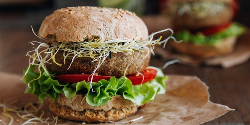 Build a better, healthier burger by making beef patties with flaxseed and tomato paste