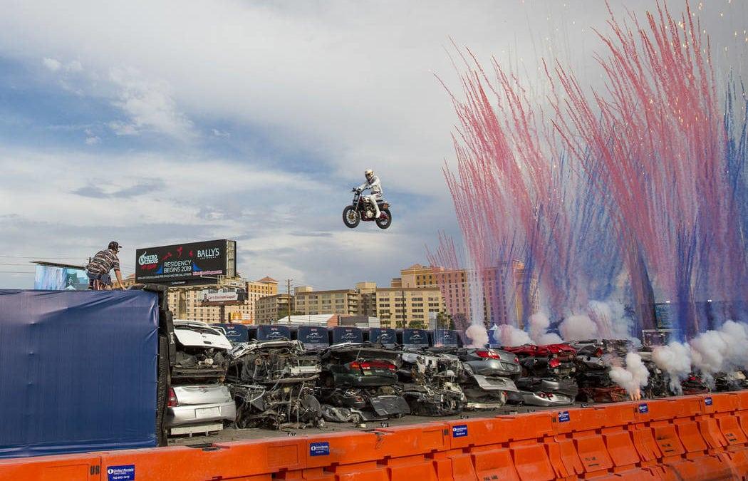 Travis Pastrana lands Caesars Palace jump in Las Vegas