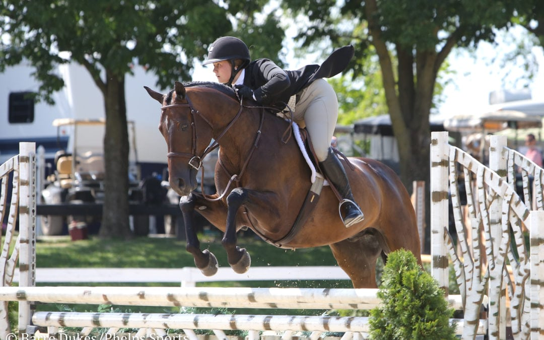 Alyssa Mansfield and Candor Can't Be Caught in $5,000 USHJA National Hunter Derby