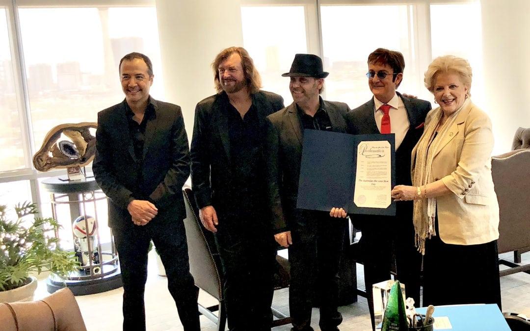 "Mayor Goodman Proclaims ""The Australian Bee Gees Show Day"""