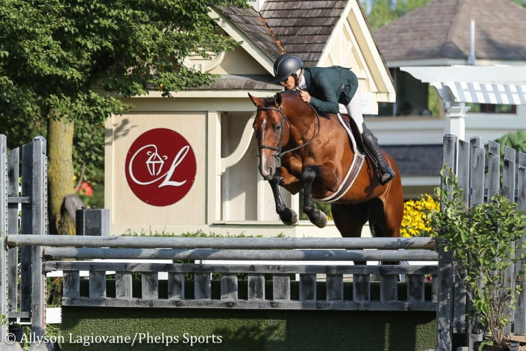 Holly Shepherd and Jerez Mail Ride Away with Green 3'6'' Hunter Championship