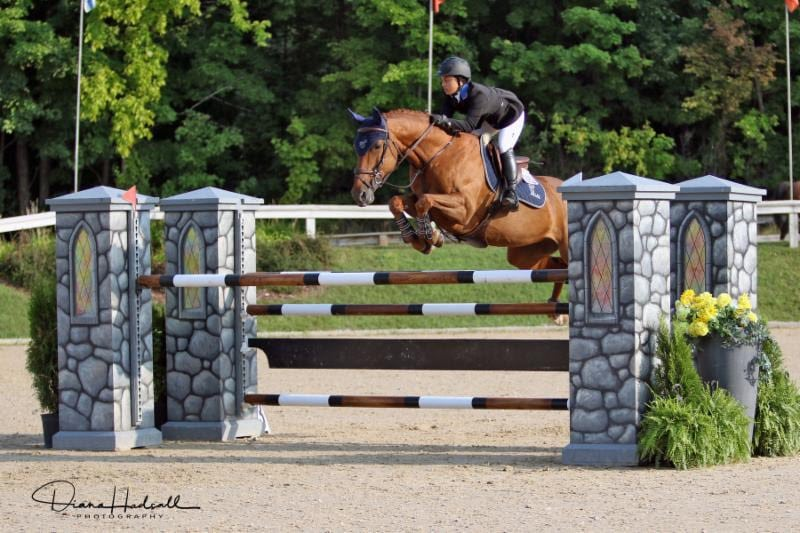 Olivia Chowdry and Cosma 20 Finish on Top in Johnson Horse Transportation Low Junior/Amateur-Owner Jumpers