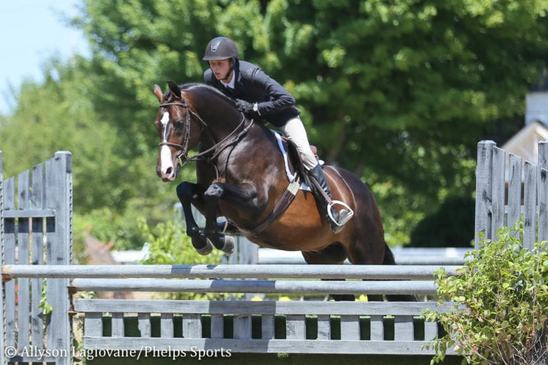 Brian Moggre Takes Early Lead in Junior 3'6'' Hunters at Equifest II