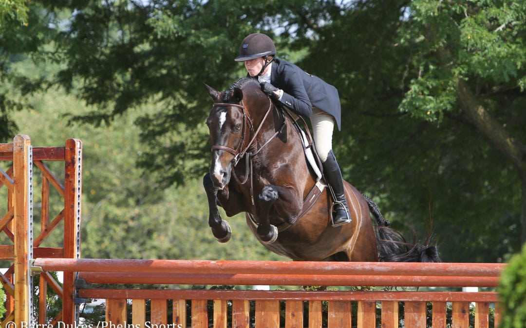 Molly Sewell Repeats One-Two Finish in $5,000 USHJA National Hunter Derby at Kentucky Summer Classic