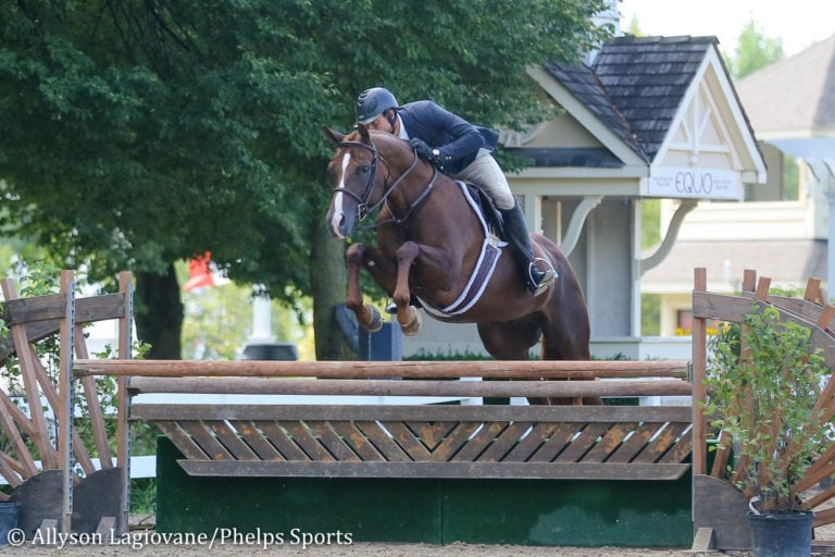 Jason Schnelle and Capisce Receive High Performance 3'6'' Hunter Championship at Equifest II