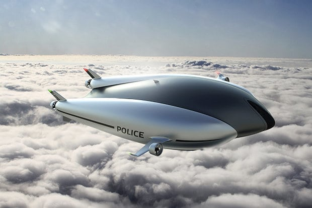 Airship POLICE CARS: Autonomous drones the future of emergency services