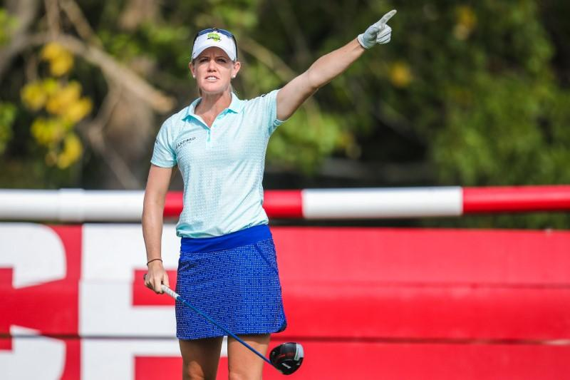 American Olson holds two-shot lead at Evian Championship golf