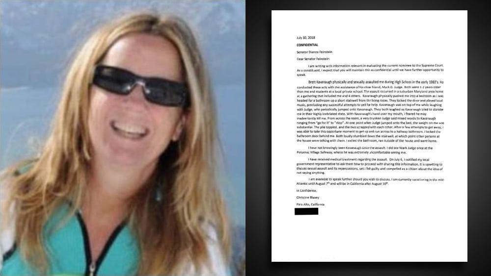 Christine Blasey Ford's letter to Sen. Dianne Feinstein revealed