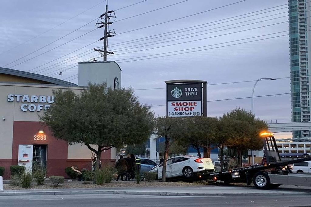 Car crashes into Starbucks near Las Vegas Strip – [your]NEWS