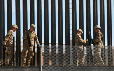 MEXICAN TROOPS DREW GUNS ON AMERICAN SOLDIERS ON US SIDE OF BORDER