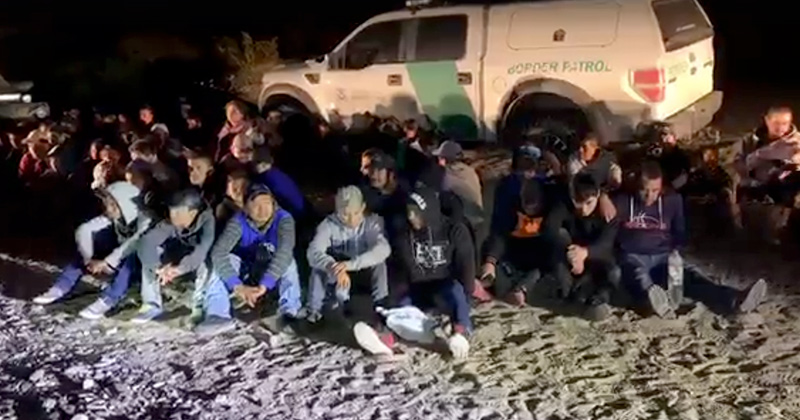 91 ILLEGALS STOPPED BY PATRIOTS PATROLLING US/MEXICO BORDER
