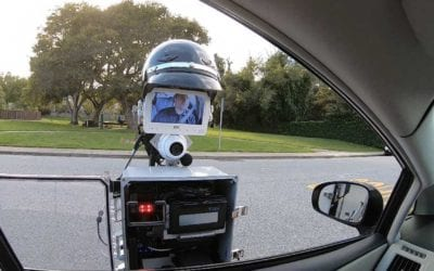 THE FUTURE IS HERE:  ROBOT COP PULLS OVER DRIVER AND ISSUE TICKET