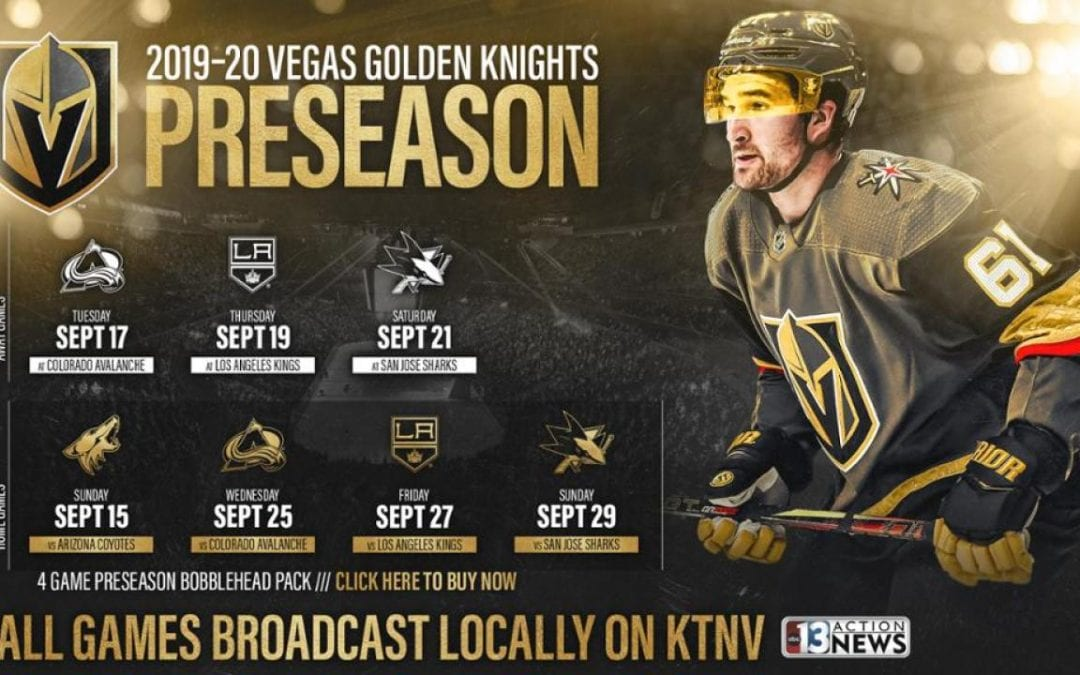 Golden Knights announce preseason schedule, training camp date