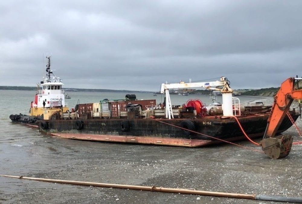 Coast Guard responds to barge aground in Naknek, Alaska