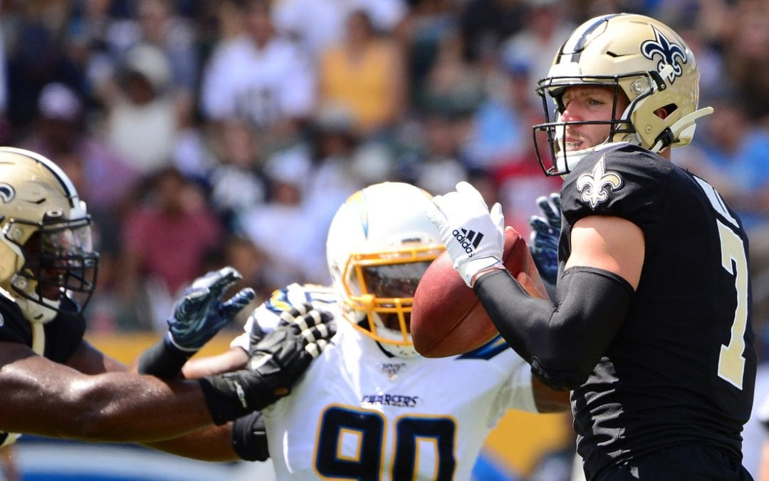 Hill does it all as Saints rally past Chargers