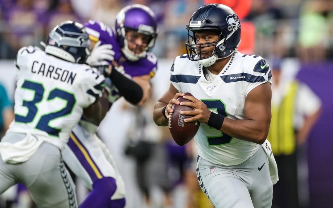 Vikings take down Seahawks in Wilson's debut