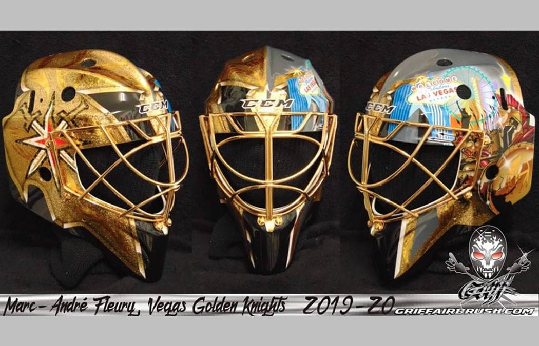 Golden Knights' Marc-Andre Fleury has a new goalie mask