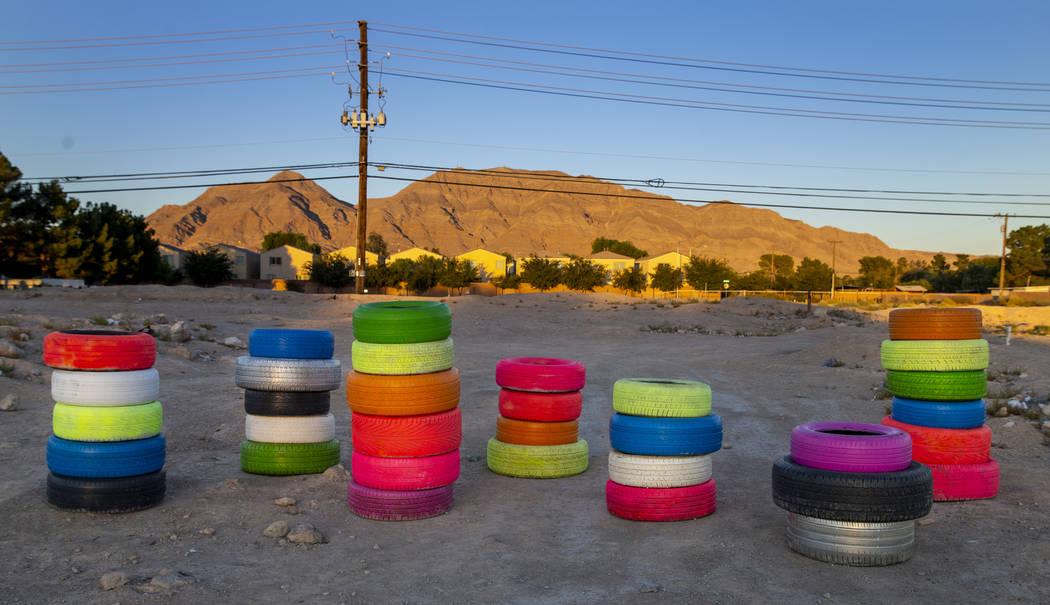 'Seven Magic Tires' an eastside Las Vegas take on 'Mountains'