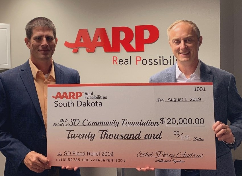 AARP South Dakota Makes Donation To Support Disaster Recovery