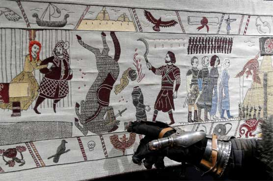 Fire and thread: Bayeux-inspired 'Game of Thrones' tapestry unveiled in France