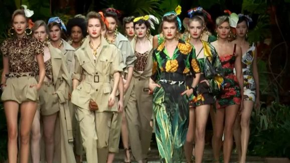 Dolce & Gabbana takes fashionistas on a jungle trek at Milan show