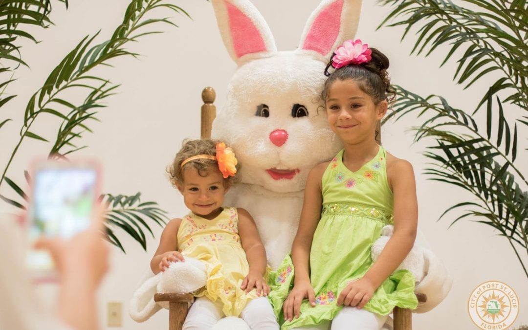 The City of Port St. Lucie's Easter Bunny Visit