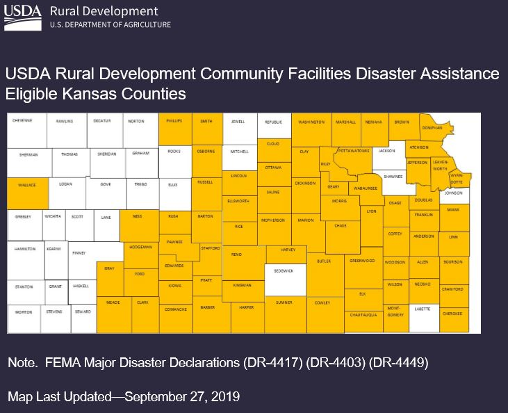 USDA to Provide $150 Million to  Help Rural Communities Affected by Natural Disasters