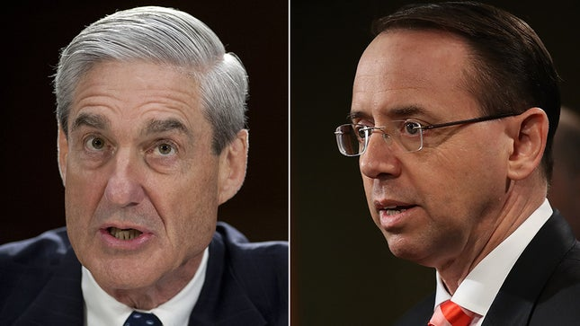 "DOCS REVEAL ROSENSTEIN CONFIDING TO MUELLER: ""THE BOSS DOESN'T KNOW ABOUT OUR DISCUSSIONS"""