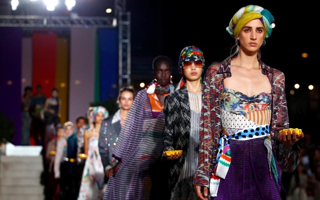 Prints great and small dominate colorful spring catwalks