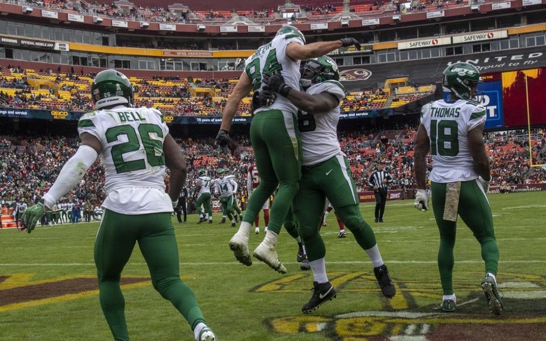 Darnold throws 4 TDs, Jets crush Redskins