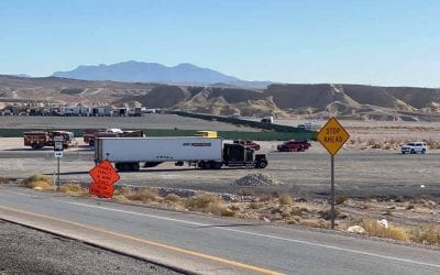 North Las Vegas roads reopen after tractor-trailer found leaking