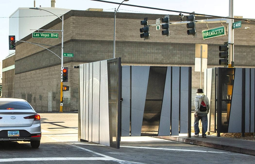 Gate near Las Vegas homeless Courtyard reopened, but it's temporary